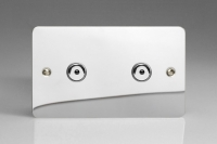 Varilight V-Plus IR Series 2 Gang 40-600 Watt Touch and Remote Dimmer Ultra Flat Polished Chrome