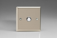 Varilight V-Pro IR Series 1 Gang Slave Unit for use with V-Pro IR Master Dimmers Satin Chrome