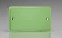 Varilight Double Blank Plate Classic Lily Beryl Green