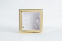 YBS.B Varilight 1 Gang (Single), Patress Wall Box (for surface mounting) Brass Effect Finish