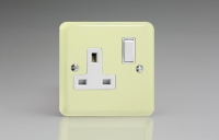 Varilight 1 Gang 13 Amp Double Pole Switched Socket Classic Lily White Chocolate