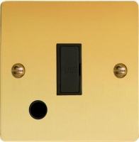 Varilight 1 Gang 13 Amp Unswitched Fused Spur with Flex Outlet Ultra Flat Polished Brass