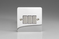 Varilight 3 Gang 10 Amp Switch Ultra Flat Polished Chrome