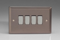 Varilight 4 Gang 10 Amp Switch Classic Pewter