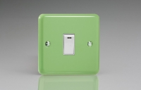 Varilight 1 Gang 20 Amp Double Pole Switch with Neon Classic Lily Beryl Green