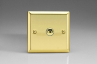 Varilight V-Plus IR Series 1 Gang 40-600 Watt Touch and Remote Dimmer Victorian Brass