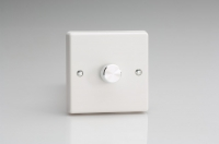 Varilight V-Pro Series 1 Gang 0-120W Trailing Edge LED Dimmer Classic White