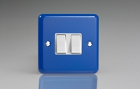 Varilight 2 Gang 10 Amp Switch Classic Lily Reflex Blue