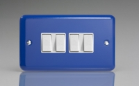 Varilight 4 Gang 10 Amp Switch Classic Lily Reflex Blue