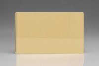 Varilight Double Blank Plate Screwless Polished Brass