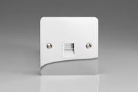 Varilight 1 Gang White Telephone Slave Socket Ultra Flat Polished Chrome