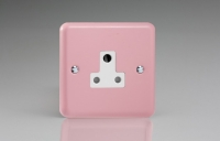 Varilight 1 Gang 5 Amp White Round Pin Socket 0-1150 Watts Classic Lily Rose Pink