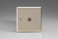 Varilight 1 Gang Co-axial TV Socket Classic Satin Chrome