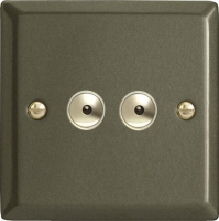 IPI252M-CL Varilight 2 Gang, 1 or 2 Way or Multi-way 2x250 Watt Touch/Remote Master Dimmer, Classic Graphite 21