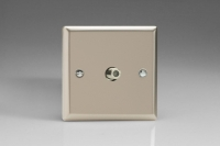 Varilight 1 Gang Satellite TV Socket Classic Satin Chrome