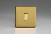 Varilight 1 Gang 10 Amp Switch Screwless Brushed Brass