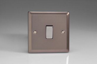 Varilight 1 Gang 10 Amp Switch Classic Pewter Effect Finish