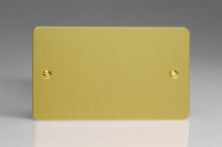 Varilight Double Blank Plate Ultra Flat Brushed Brass