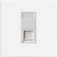 Varilight 1 Gang White Telephone Slave Socket Screwless Premium White