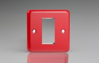 Varilight 1 Gang Data Grid Face Plate For 1 Data Module Width Classic Lily Pillar Box Red