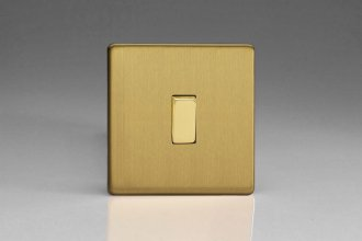 Varilight 1 Gang 10 Amp Switch Screwless Brushed Brass Effect Finish