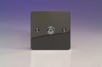 Varilight V-Plus IR Series 1 Gang 40-600 Watt Touch and Remote Dimmer Ultra Flat Iridium Black