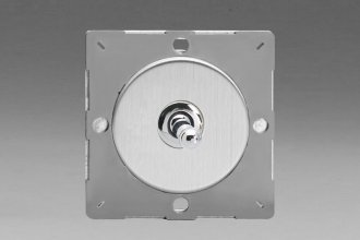 Varilight European Brushed Steel Finish VariGrid 1 Gang 1 or 2 Way 10A Toggle Switch