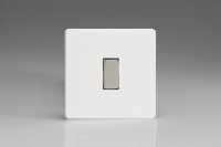Varilight 1 Gang 10 Amp Switch Screwless Premium White
