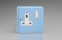 Varilight 1 Gang 13 Amp Double Pole Switched Socket Classic Lily Duck Egg Blue