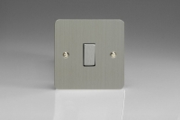 Varilight 1 Gang 10 Amp Switch Ultra Flat Brushed Steel