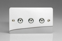 Varilight V-Pro IR Series 3 Gang 0-100 Watts Master Trailing Edge LED Dimmer Ultra Flat Polished Chrome