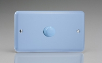 Varilight V-Com Series 1 Gang 40-600 Watt Leading Edge LED Dimmer Duck Egg Blue