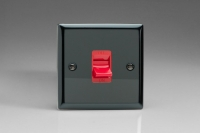 Varilight 45 Amp Double Pole Cooker Switch Classic Iridium Black