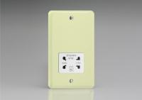 Varilight White Dual Voltage 240V/115V IP41 Shaver Socket Classic Lily White Chocolate