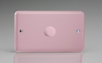 Varilight V-Com Series 1 Gang 40-600 Watt Leading Edge LED Dimmer Rose Pink