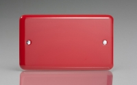 Varilight Double Blank Plate Classic Lily Pillar Box Red