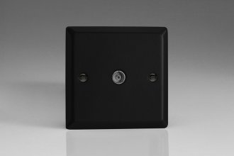 Varilight 1 Gang Co-axial TV Socket Urban/Vogue Matt Black Effect Finish
