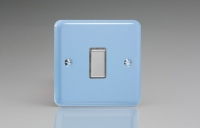 Varilight V-Pro Multi Point Tactile Touch Slave (MP Slave) Series 1 Gang Unit for use with V-Pro Multi Point Remote Master Dimmers Duck Egg Blue