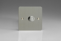 Varilight V-Pro Series 1 Gang 0-120W Trailing Edge LED Dimmer Ultra Flat Brushed Steel