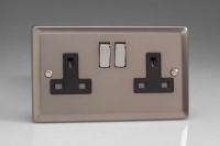 Varilight 2 Gang 13 Amp Double Pole Switched Socket Classic Pewter