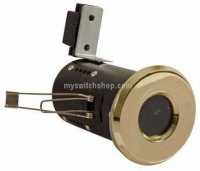 FLF24-1 Fire Rated Diecast Showerlight Low Voltage - Brass Effect