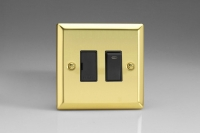 Varilight 1 Gang 13 Amp Double Pole Switched Fused Spur with Neon Classic Victorian Brass