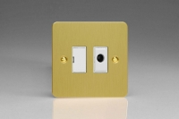 Varilight 1 Gang 13 Amp Unswitched Fused Spur with Flex Outlet Ultra Flat Brushed Brass