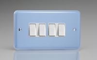 Varilight 4 Gang 10 Amp Switch Classic Lily Duck Egg Blue