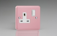 Varilight 1 Gang 13 Amp Double Pole Switched Socket Classic Lily Rose Pink
