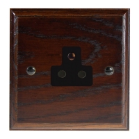 Classic 1Gang 2Amp Unswitched Socket in Solid Dark Oak