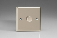 Varilight V-Pro Series 1 Gang 0-120W Trailing Edge LED Dimmer Satin Chrome