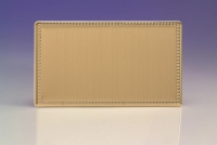 Varilight Double Blank Plate Screwless Beaded Brushed Brass