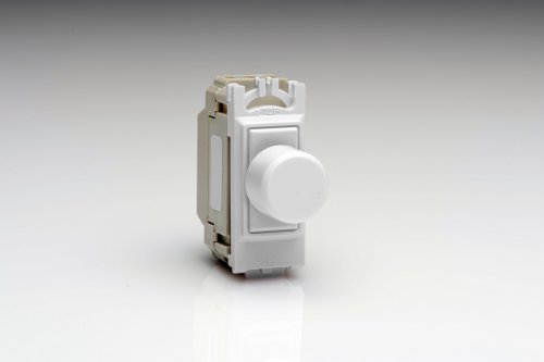 GH0W is a White 1 Gang, Push On/Off Non-Dimming (Dummy Dimmer) module for Varilight power grid plates.