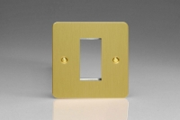 Varilight 1 Gang Data Grid Face Plate For 1 Data Module Width Ultra Flat Brushed Brass